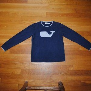 Vineyard Vines Navy Whale Sweater, Girls Size M
